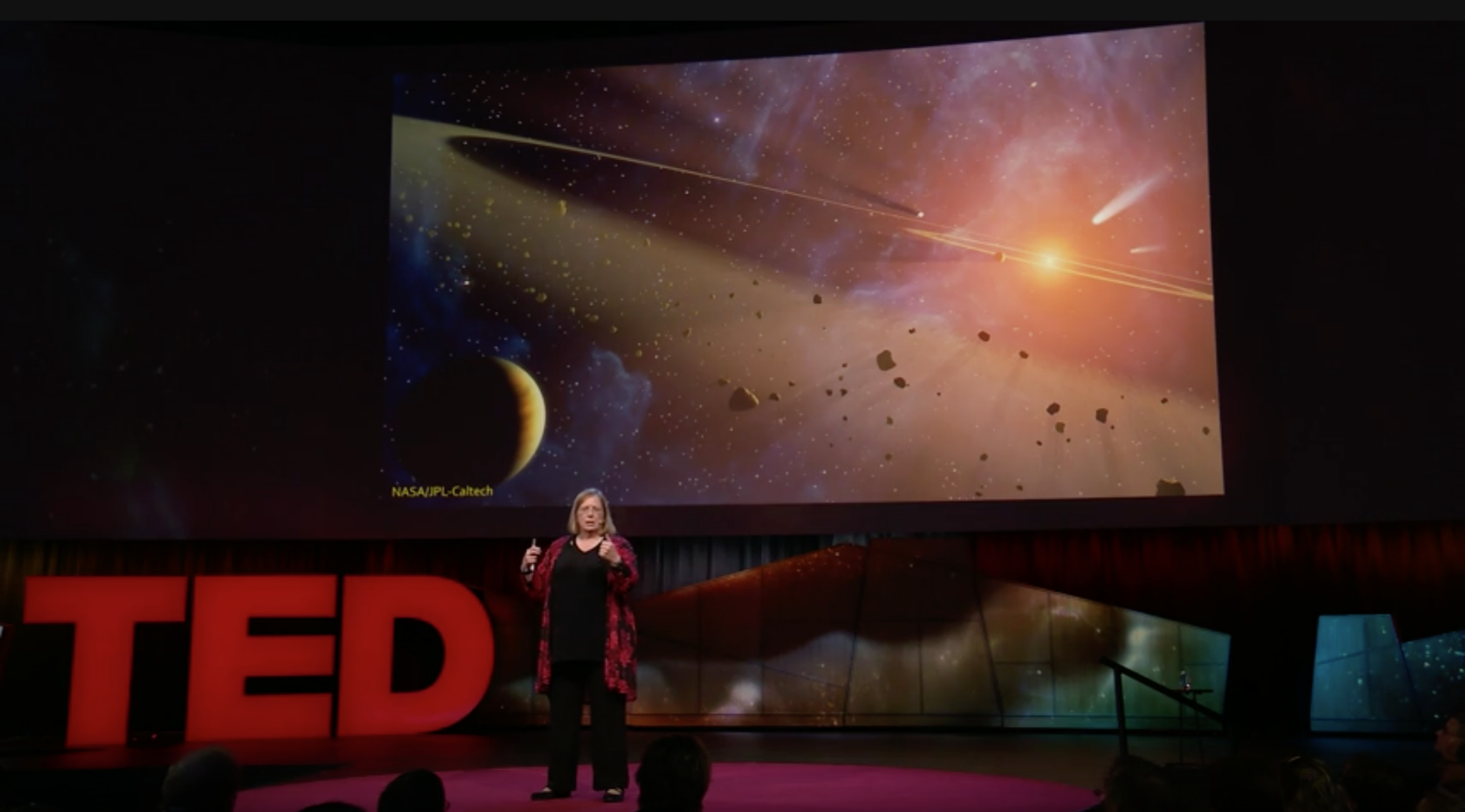 "In October 2017, astrobiologist Karen J. Meech got the call every astronomer waits for: NASA had spotted the very first visitor from another star system. The interstellar comet -- a half-mile-long object eventually named `Oumuamua, from the Hawaiian for ""scout"" or ""messenger"" -- raised intriguing questions: Was it a chunk of rocky debris from a new star system, shredded material from a supernova explosion, evidence of alien technology or something else altogether? In this riveting talk, Meech tells the story of how her team raced against the clock to find answers about this unexpected gift from afar. This talk was presented at an official TED conference"