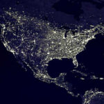 The Globe at Night project invites citizen scientists to record light pollution in their own community. (Credit: DMSP/NASA)